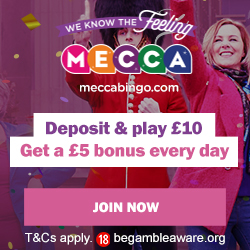 Low Wagering Requirements – Mecca Bingo – 2X Playthrough