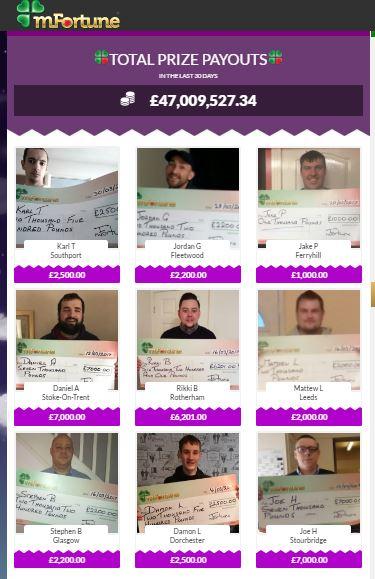 Bingo news - Latest Winners mFortune
